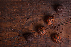 Brigadeiro brésilien de bonbon de truffe de chocolat Photos libres de droits