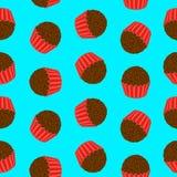 Brigadeiro - Brazilian Candy Pattern Royalty Free Stock Photos