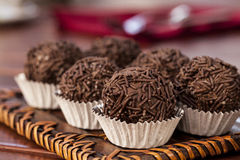 Brigadeiro a brazilian sweet Stock Photos