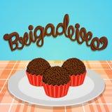Brigadeiro - doces brasileiros Imagem de Stock