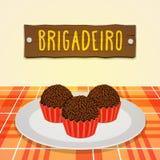 Brigadeiro - doces brasileiros Fotos de Stock