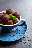 Brigadeiro - traditional Brazilian chocolate delicacy Royalty Free Stock Images