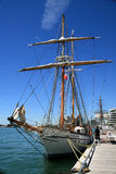 Brigantine. Pathfinder at the pier in Toronto royalty free stock photos