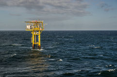 Brigantine BG unmanned gas platform landsacpe view Stock Photos
