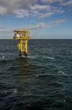 Brigantine BG unmanned gas platform portrait view. BRIGANTINE BG PLATFORM, NORTH SEA - 2 MARCH - Located in the Southern North Sea, the Brigantine is one of many stock image