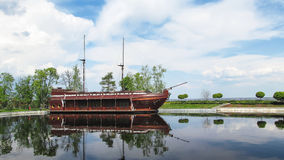 The brigantine. The image of brigantine, taken in ukrainian ex-president's residence stock photography