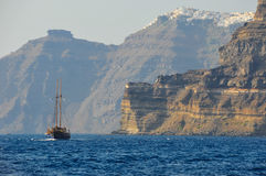 Brigantine in the Mediterranean Sea stock images