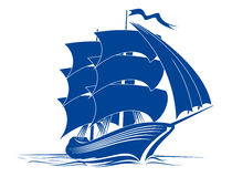 Brigantine ship royalty free stock photo