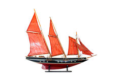 Brigantino a palo di modello di legno, un tipo di imbarcazione a vela, Asia Immagine Stock Libera da Diritti