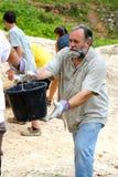 Brigata della benna della sporcizia Fotografia Stock Libera da Diritti