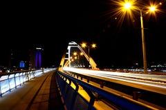 Brigde на ноче стоковые фотографии rf
