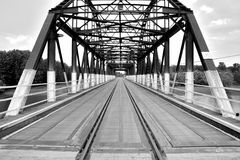 Brigde black and white stock image