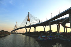 Brigde over Chaopraya river in Bangkok,Thailand Stock Images