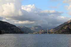 Brigde over Lysefjord, Rogaland, Norway Stock Image