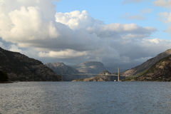 Brigde over Lysefjord, Rogaland, Norway Stock Photo