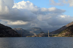 Brigde over Lysefjord, Rogaland, Norway Royalty Free Stock Images