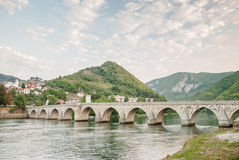 The brigde on River Drina Stock Image