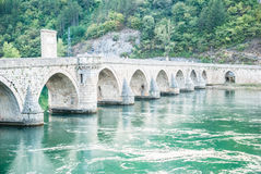 The brigde on River Drina Stock Images
