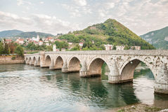 The brigde on River Drina Royalty Free Stock Photo