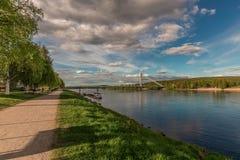 Brigde at Rovaniemi royalty free stock images