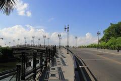 Brigde sopra il cannel del prakanong a Bangkok, Tailandia 2 Fotografia Stock Libera da Diritti