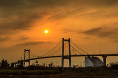 Brigde sunset Royalty Free Stock Image
