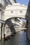 Brigde van Sighs, Venetië. royalty-vrije stock foto