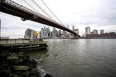 Brige и Манхэттен Бруклина стоковое фото rf