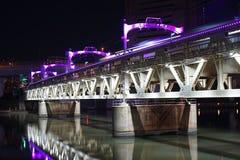 Brige över floden Royaltyfri Foto