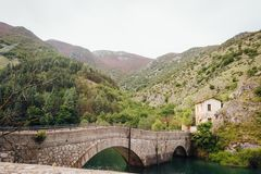 Brige auf dem See von San Domenico stockfotos