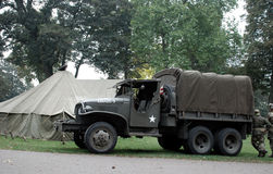 Brige de Nimègue de soldats des Etats-Unis Photo libre de droits