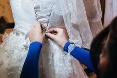 Brige de préparation de mariage photo stock