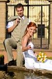 Brige et marié photographie stock libre de droits