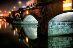 Brige at night Royalty Free Stock Photo