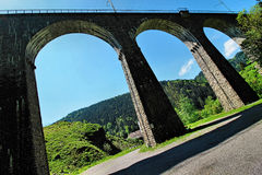 Brige in the Ravennaschlucht in the German Black Forest Royalty Free Stock Images