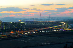 Brige and twilight Stock Images
