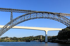 Briges of Porto, old and new architecture Royalty Free Stock Image