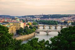 Briges in Prague Stock Image