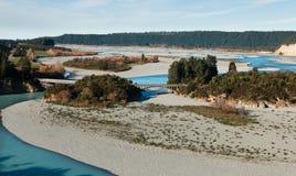 Briges sobre el río de Rakaia Fotografía de archivo libre de regalías
