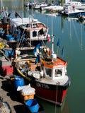 BRIGGHTON, SUSSEX/UK - 24 DE MAIO: Opinião Brighton Marina em brilhante Imagem de Stock Royalty Free