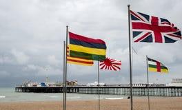 BRIGGHTON, SUSSEX/UK DO LESTE - 24 DE MAIO: Opinião Brighton Pier em Bri Foto de Stock