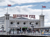 BRIGGHTON, SUSSEX/UK DO LESTE - 24 DE MAIO: Opinião Brighton Pier em Bri Fotos de Stock Royalty Free