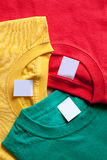 Brigh colorful t-shirts Stock Photography