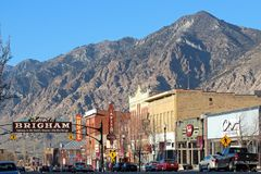 Brigham City Utah royaltyfria bilder