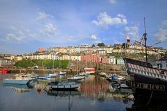 Brigham Harbour i södra Devon royaltyfria foton