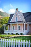 Brigham Young Home. Brigham young winter home in northern Utah stock images