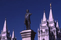 Brigham young statue stock photos