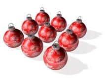 Bright 3d crystal ball's array Stock Photography