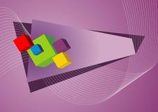 Bright 3D cubes Stock Photo
