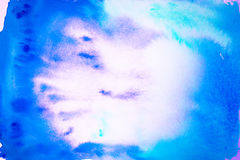 Bright Abstracet Water Color Background Out Of Blue And Cyan Stock Images